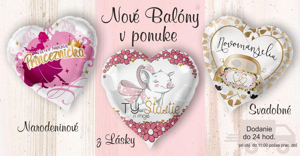 balony so slovenskym textom