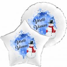 Balón Vánoce Sněhulák