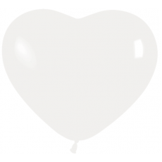 Balón srdce Biely  12´´- 31cm