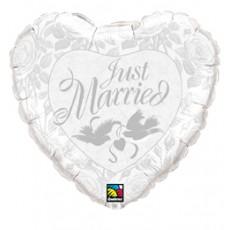 Balón Just Married PRL White Q