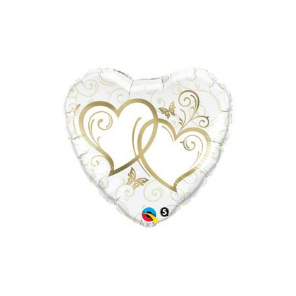 Balón Entwined Hearts Gold Q