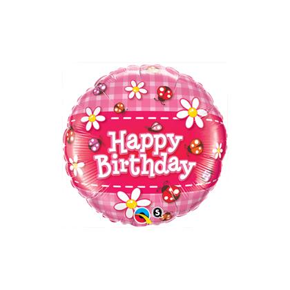 Balón BDay Ladybugs & Daisies Q