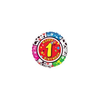 Balón číslo kruh 1