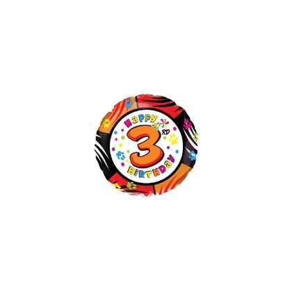 Balón číslo kruh 3