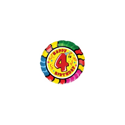 Balón číslo kruh 4