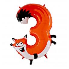 Balón Číslo 3 Líška