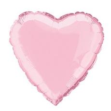 Balón srdce Ružové bl.
