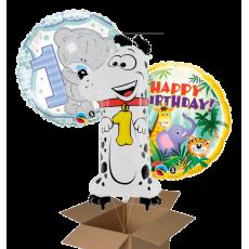 Fóliové balóny číslo 1 ks + 2 ks z krabice