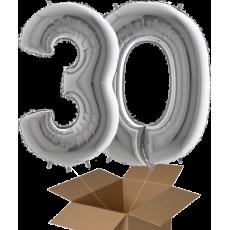 Fóliové balóny číslo 2 ks z krabice