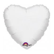 Balón srdce Biele