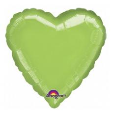 Balón srdce Zelené lim.