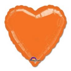 Balón srdce Oranžové