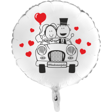 Balón Svadobné Auto biely