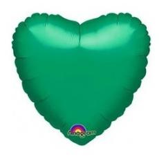 Balón srdce Zelené
