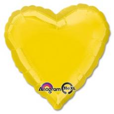 Balón srdce Žlté