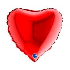 Balón 9´´ Srdce červené