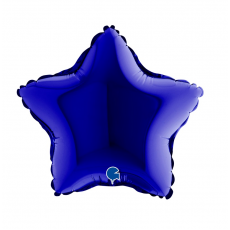 Balón 9´´ Hviezda tm. modrá 23 cm
