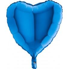 Balón srdce 45 cm Modré