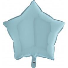 Balón hviezda Modrá Pastel