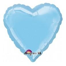 Balón Srdce 45 cm Bledo Modré