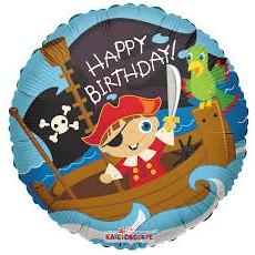 Balón Pirát Happy Birthday