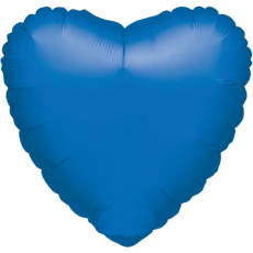 Balón Srdce 45 cm Modré tmavé