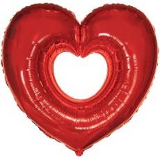 Balón Srdce deravé červené