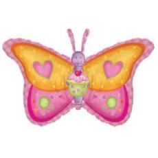 Balón Motýľ Srdiečka