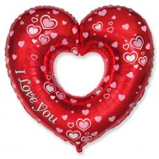 Balón Srdce I LOVE s otvorom