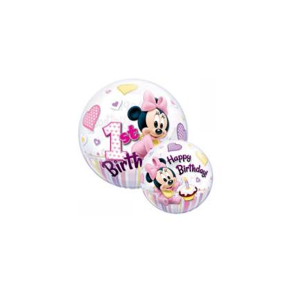 Balón Minnie Mouse 1st BDay QB
