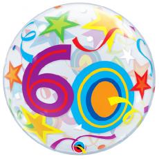 Balón 60. narodeniny bubbles