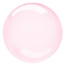 Balón priehľadný ružový fóliový