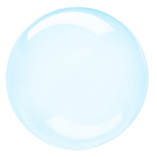 Balón priehľadný modrý fóliový