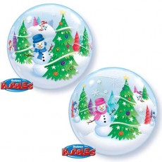 Balón Q Bubbles Christmas Tree & Snowman