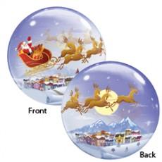 Balón Q Bubbles Santa In Sleigh Christmas