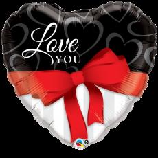 Balón Q Heart Red Ribbon