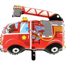 Balón Hasičské auto pes