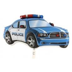 Balón Policajné auto modré