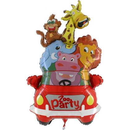 Balón Auto so zvieratkami