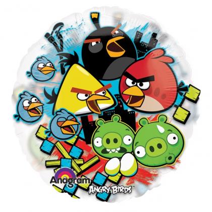 Balón Angry Birds priehľadný US