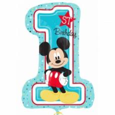 Balón Mickey Mouse číslo 1 US