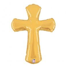 Balón Kríž zlatý