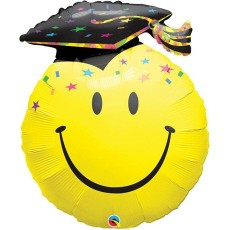 Balón Q Smile Face Party Graduation