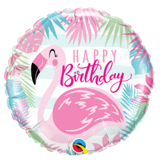 Balón Plameniak Happy Birthday / Bday Pink Flamingo