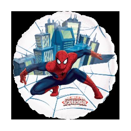 Balón Spiderman kruh US priehl.