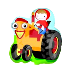 Balón Betka na traktore US