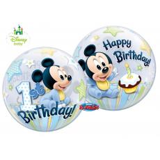 Balón Mickey Mouse 1 narodeniny QB