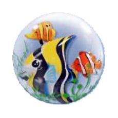 Balón Q DB Seaweed Tropical Fish