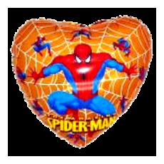 Balón Spiderman srdce z.