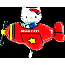 Balón Hello Kitty v lietadle